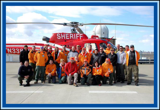 Niagara Frontier Search and Rescue team members with Erie County AIR1 at the Buffalo-Niagara International Airport